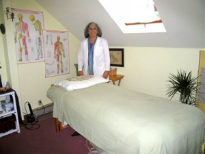 Maria Cook in Treatment Room